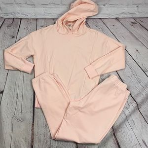 NWT pink Juicy hooded and jogger jumpsuit small